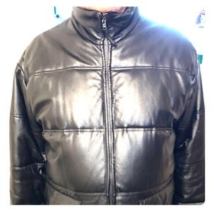 Men's Leather Jacket runs big